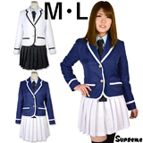 animania  名門学園 ライン入りジャケット学生服 M/L