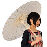 和の雰囲気漂うお洒落コスプレアイテム♪ 和傘 白い舞傘