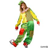 イエロー&グリーン 道化師の衣装 コスプレ 仮装 ハロウィン