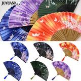 布扇子 花と蝶 6color 和風 ゆうメールOK