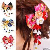 三色梅 髪飾り つまみ細工 和風 ゆうパケット2点まで可能