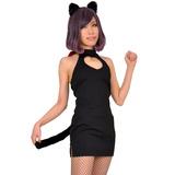 8mm ブラックキャット 黒猫 タイトワンピース コスチューム ハロウィン 大き...