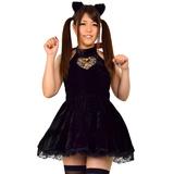 8mm ブラックキャット 黒猫 ギャザーワンピース コスチューム ハロウィン S...