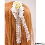 ホワイト ローズ レース 薔薇 白薔薇 コスプレ 小物 ヘアアクセサリー 髪飾り...