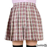 コスプレ 制服用 チェック柄 プリーツ スカート ピンク オリジナル 制服 衣装