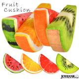 半月切り クッション 枕 インテリア 雑貨 快眠 フルーツ 果物 4種類