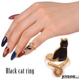 指輪 リング ネイルリング ファランジリング キャット 猫 黒猫 アクセサリー ...