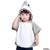 子供服 鮫 サメ パーカー キッズ ファッション 衣装 魚 シャーク フリース ...