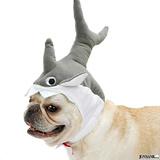 ペット 犬 猫 被り物 帽子 鮫 サメ 撮影 シャーク ハロゥイン コスプレ 2...